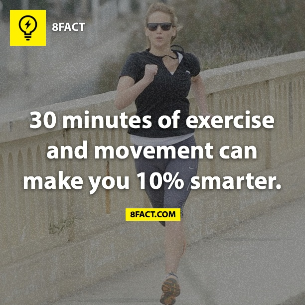 30 minutes of exercise and movement can make you 10% smarter
