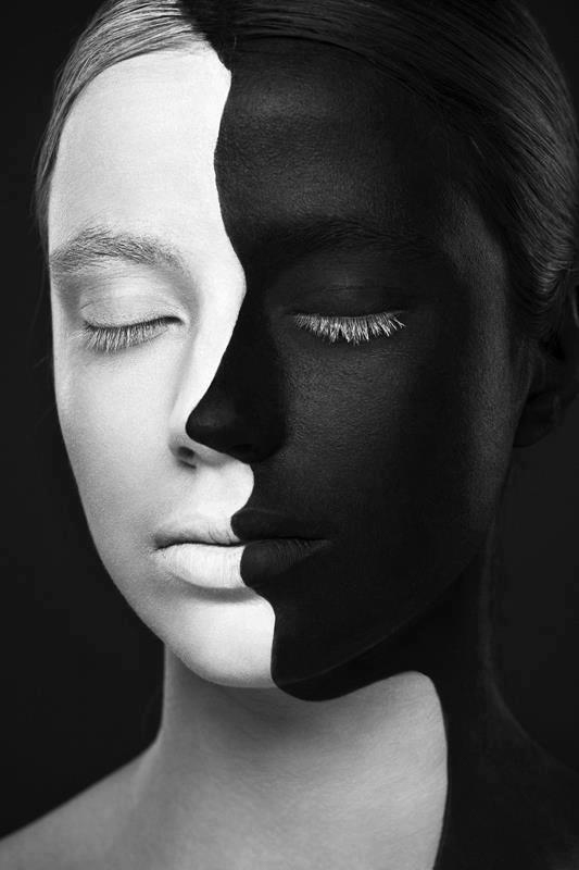 White and black girl