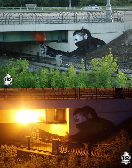Amazing Graffiti under bridge