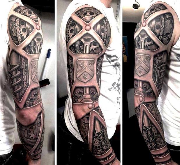 Arm form steel - tattoo