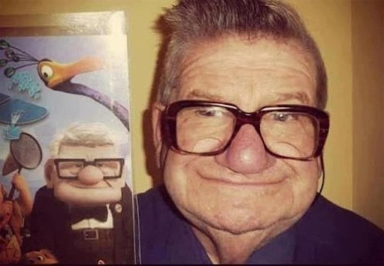 Real guy from cartoon Up