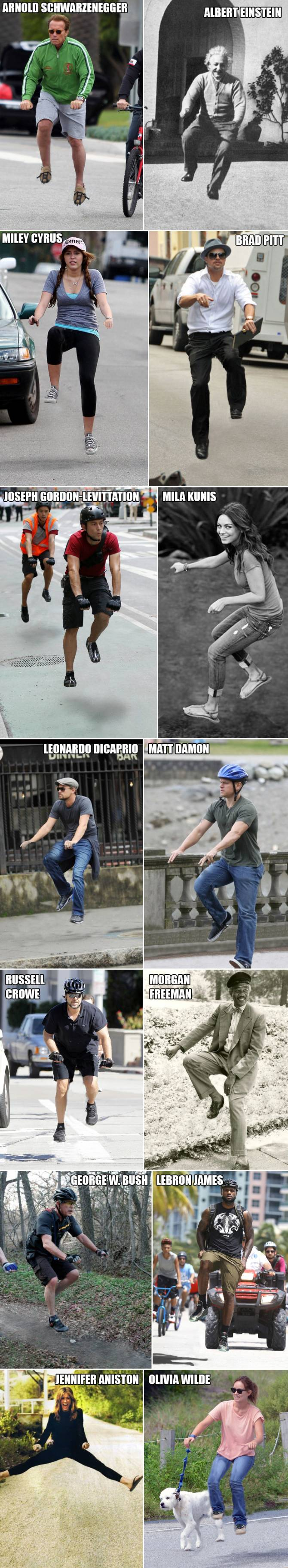 Famous People NOT Riding a Bike!