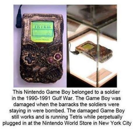 Nintendo Game Boy belonged to a soldier in the Gulf War.