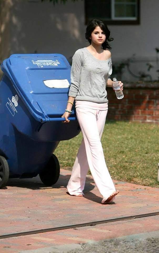 Selena Gomez taking her music for a walk