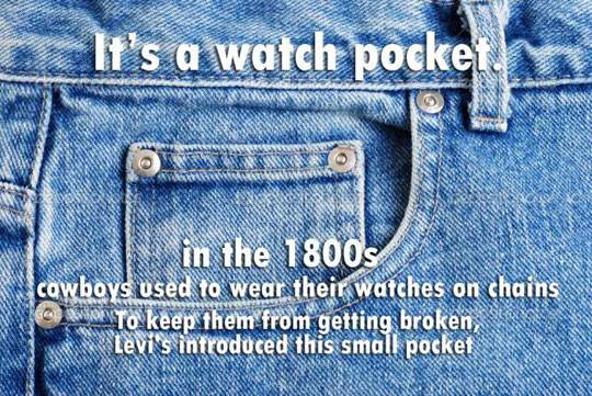 Small pocket on jour jeans