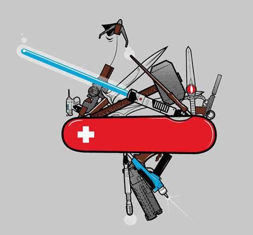 Swiss knife for superheroes