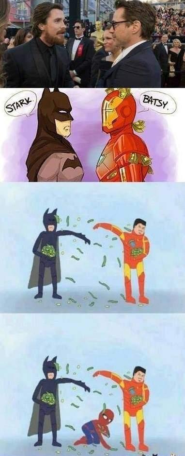 Tony Stark (Batman) vs Bruce Wayne (Iron Man)