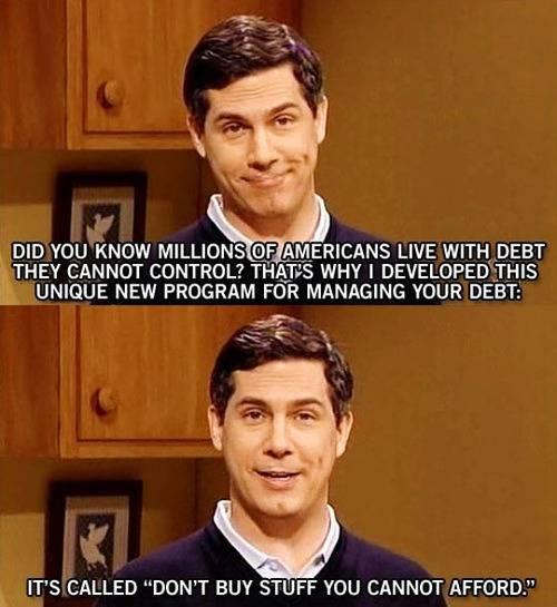Unique new program for managing your debt.
