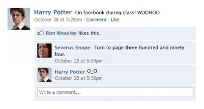 Harry Potter on Facebook