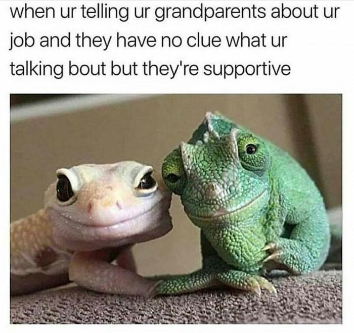Supportive grandparents...