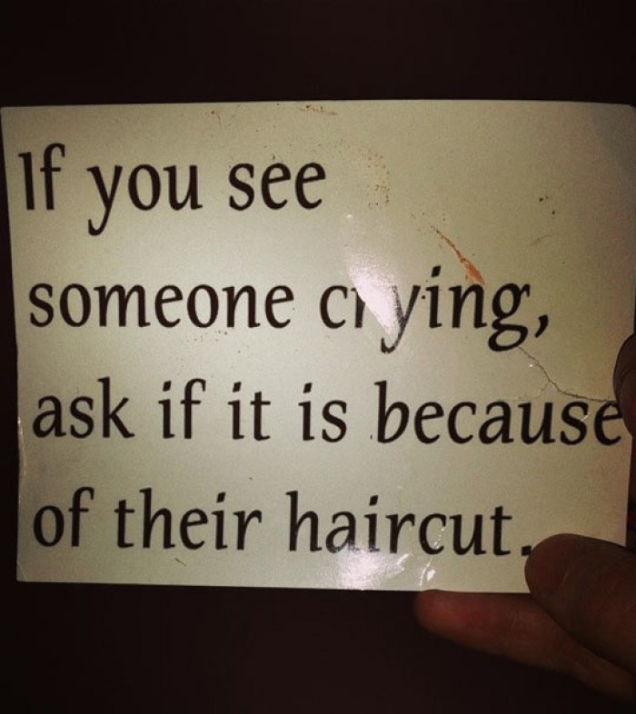 When someone is crying...