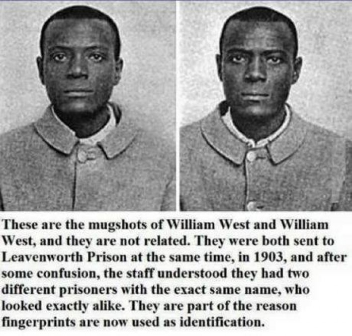 Part of the reason why fingerprints are now used as identification.