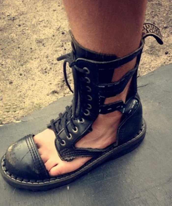 When it's really hot outside, but you gotta stay metal.