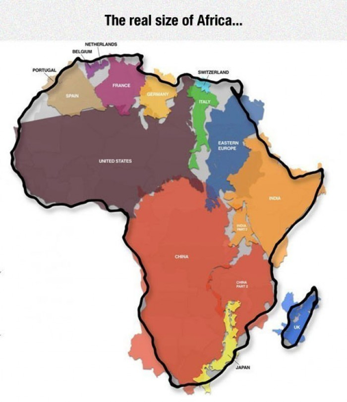 The Real Size Of Africa...