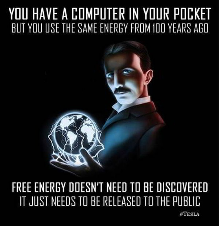 Free energy doesn't need to be discovered...