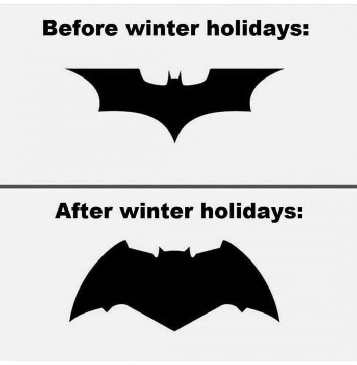 Batman logo - Before And After Winter Holidays