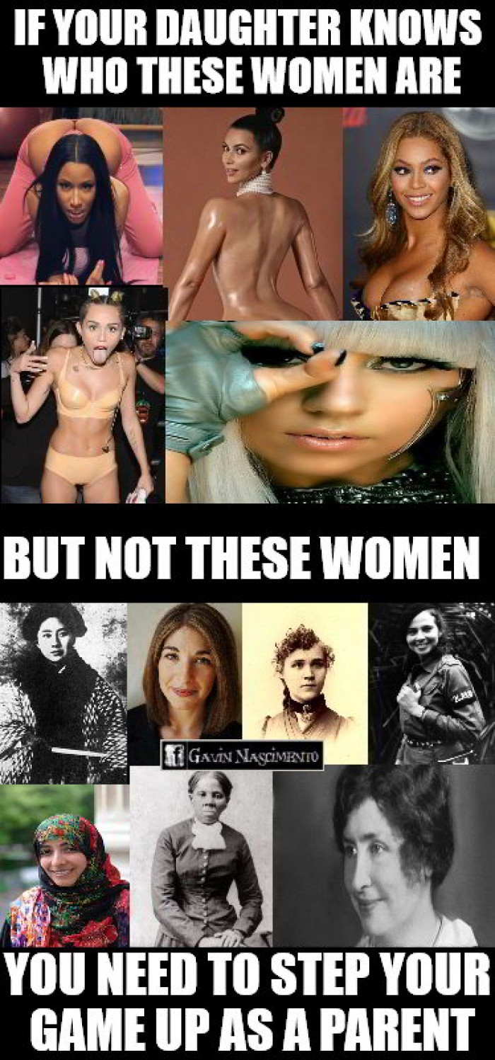If your daughter knows who these women are but not these women...