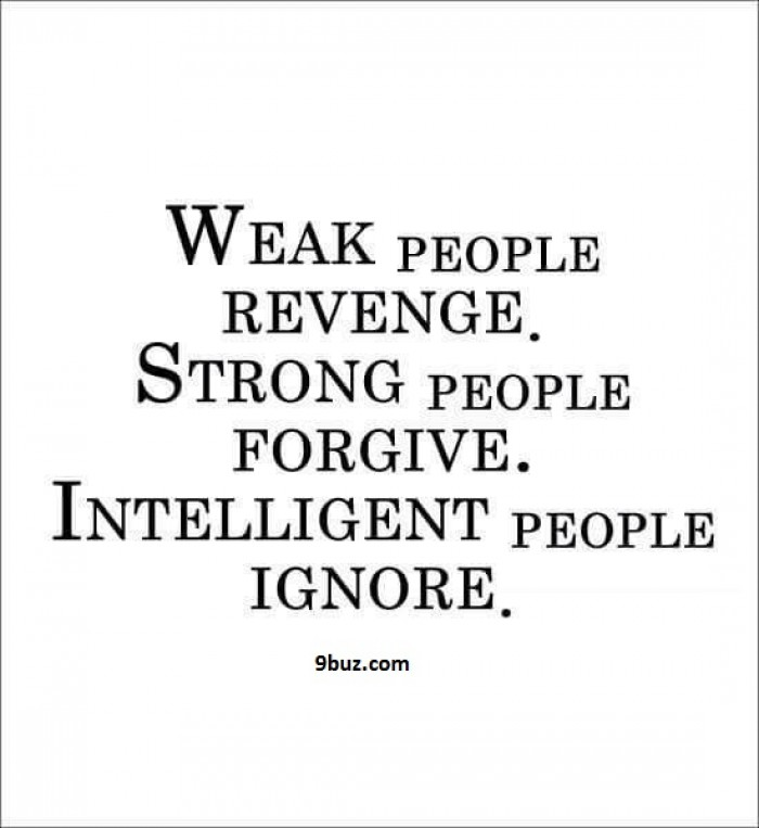 Revenge Forgive Ignore