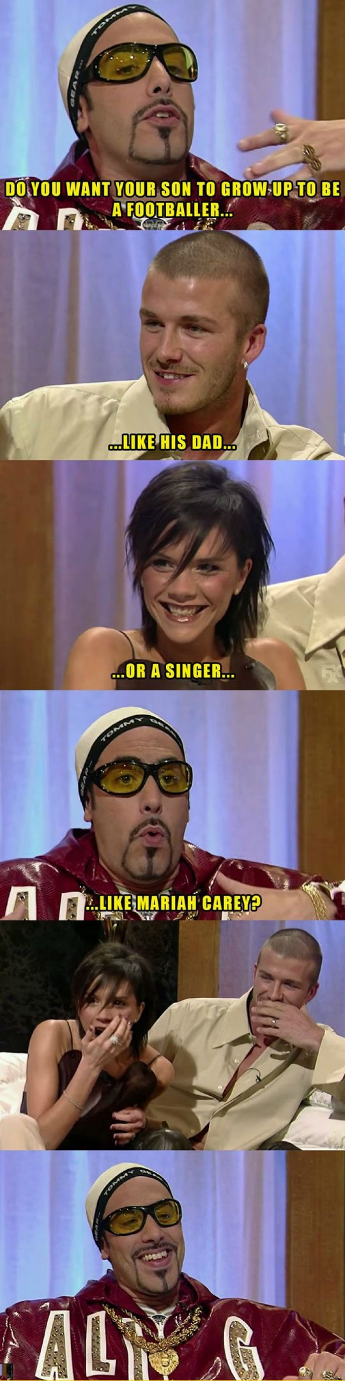 Ali G Interviewing David Beckham And Posh Spice