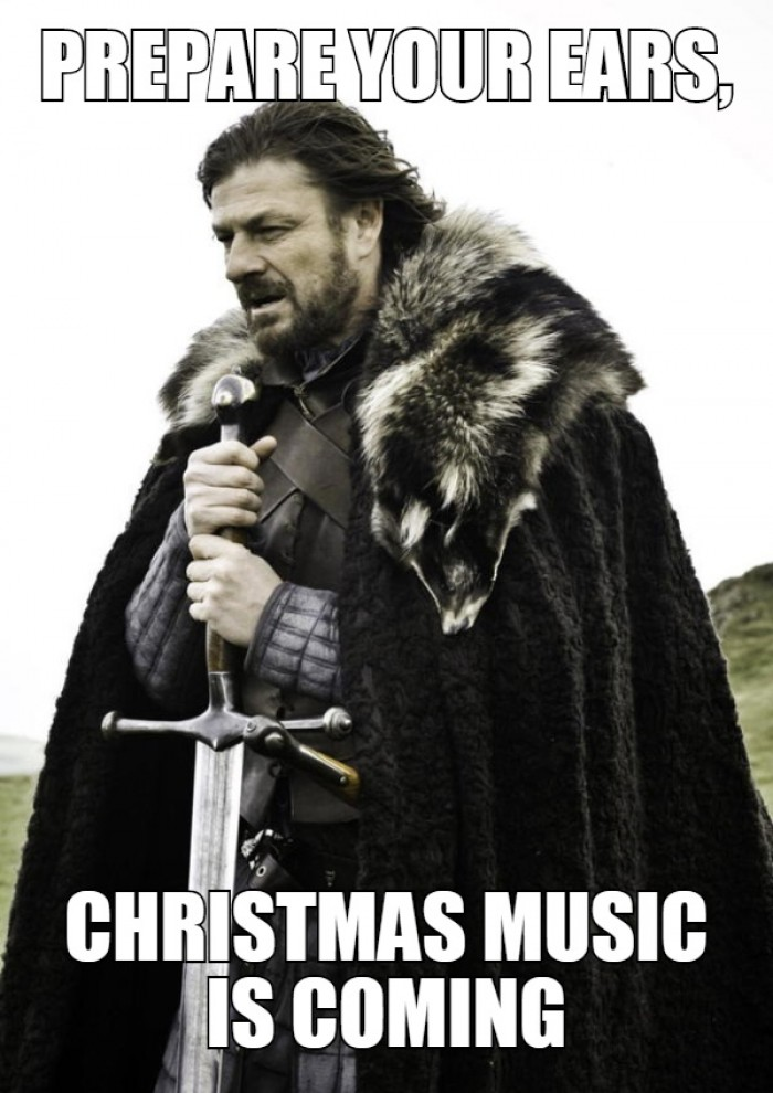 Prepare your ears, Christmas music is coming!