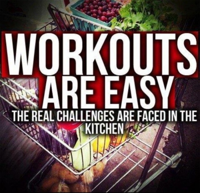 Workouts are easy. The real challenge are...