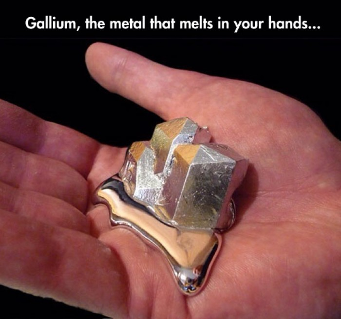 Gallium, the metal that melts in your hands...