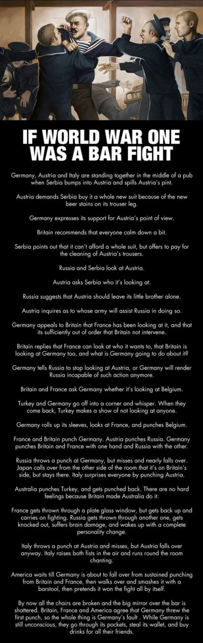 If World War One Was A Bar Fight