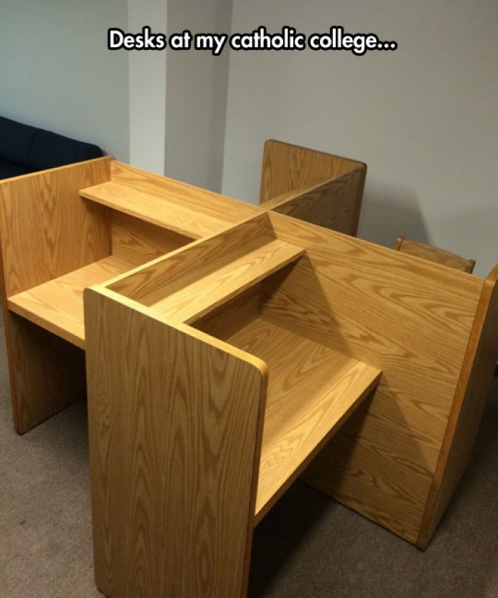 Swastika desk at catholic college