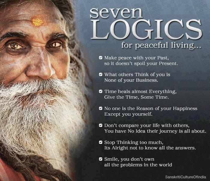 7 Logics for Peaceful Living...