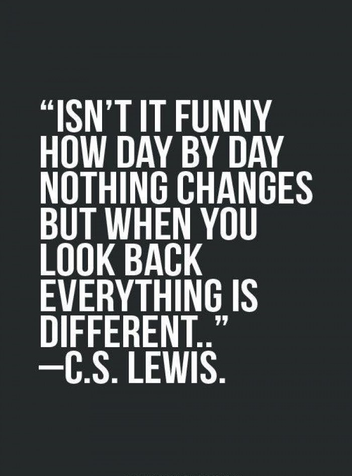 C.S. Lewis -  Isn't it funny how day by day...