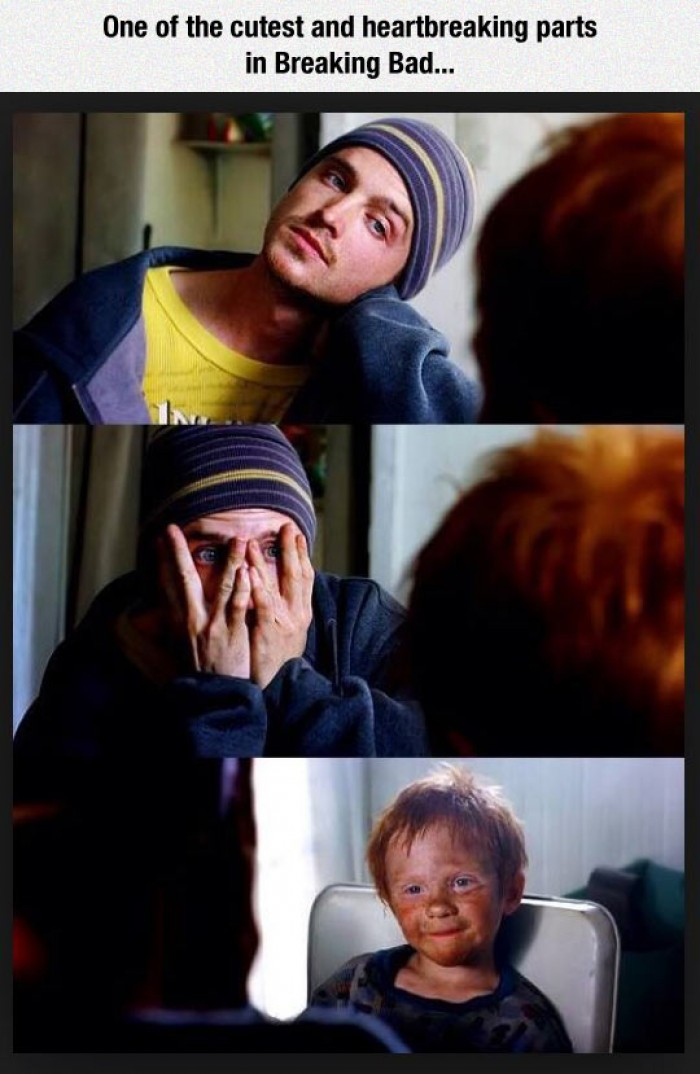 One of the cutest and heartbreaking parts in Breaking Bad