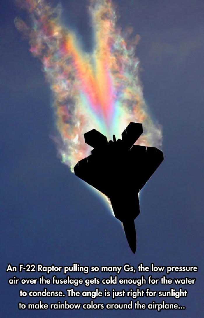 F-22 Raptor Attempting A Sonic Rainboom