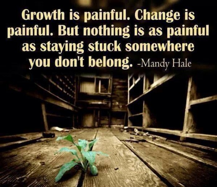 Mandy Hale - Growth is painful. Change is painful. But nothing is...