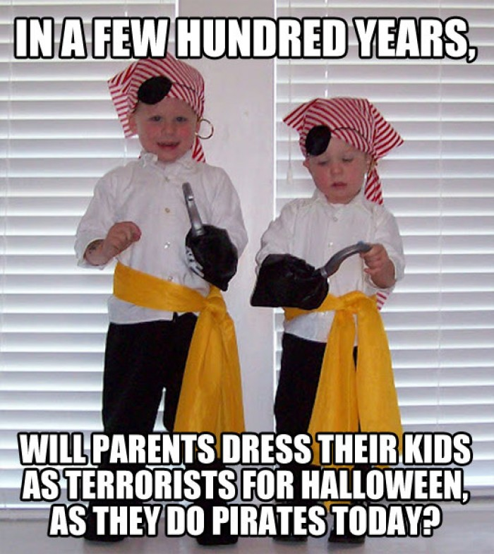 Will parents dress their kids as terrorists for Halloween in future