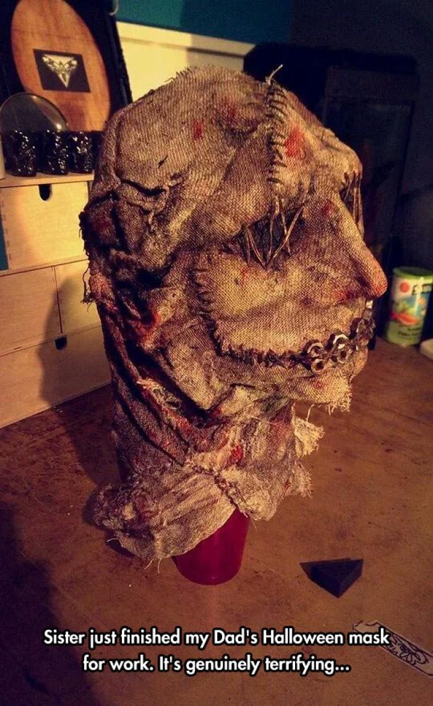 Genuinely Terrifying Halloween Mask