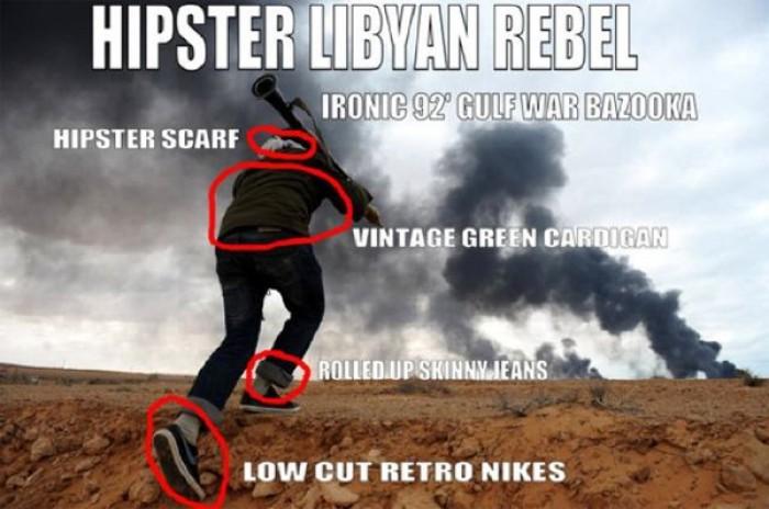 Hipster Libyan Rebel