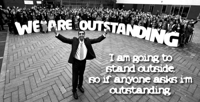 I am going to stand outside so if anyone asks i'm outstanding.