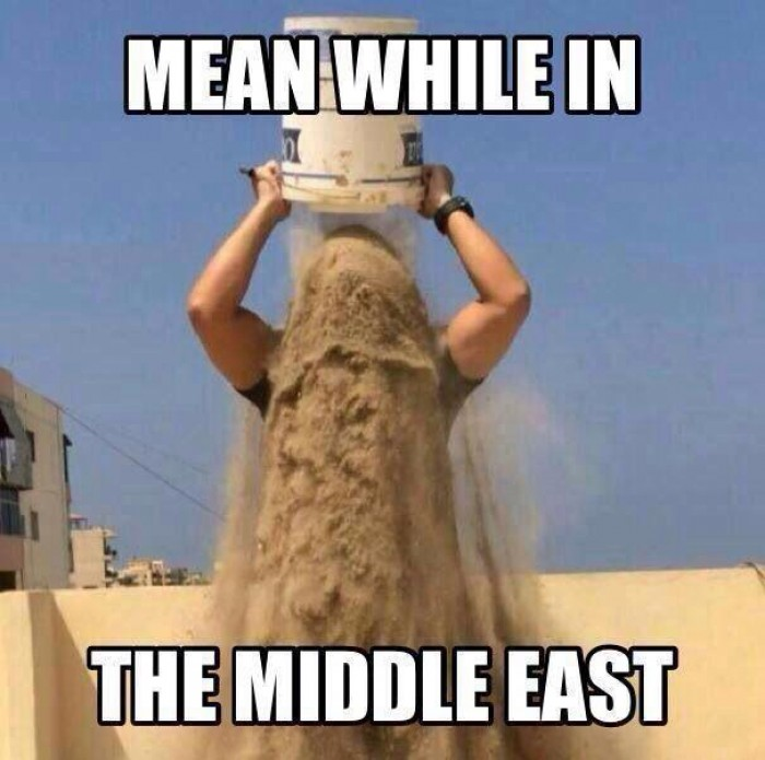 Meanwhile in the middle east... bucket challenge