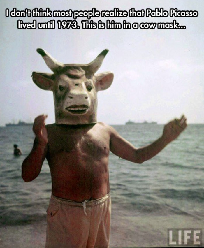 The Great Pablo Picasso And His Cow Mask