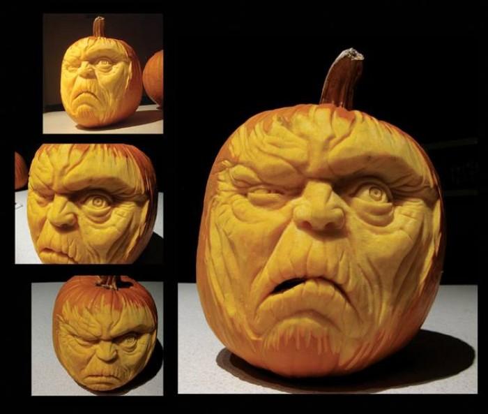 Pumpkin face for Halloween