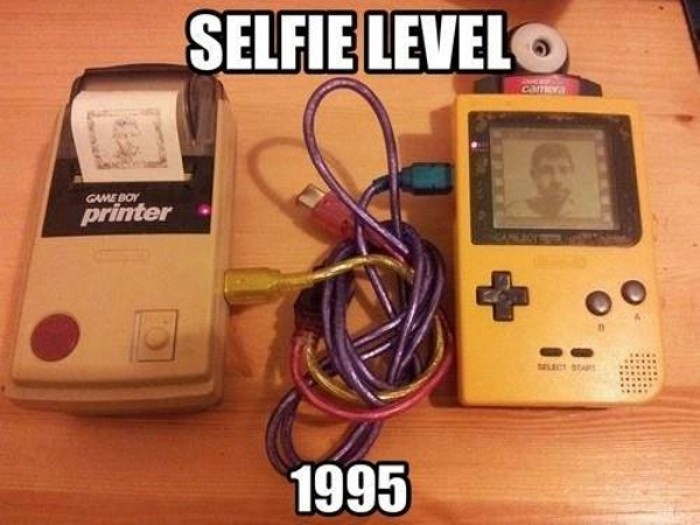 Selfie, level 1995