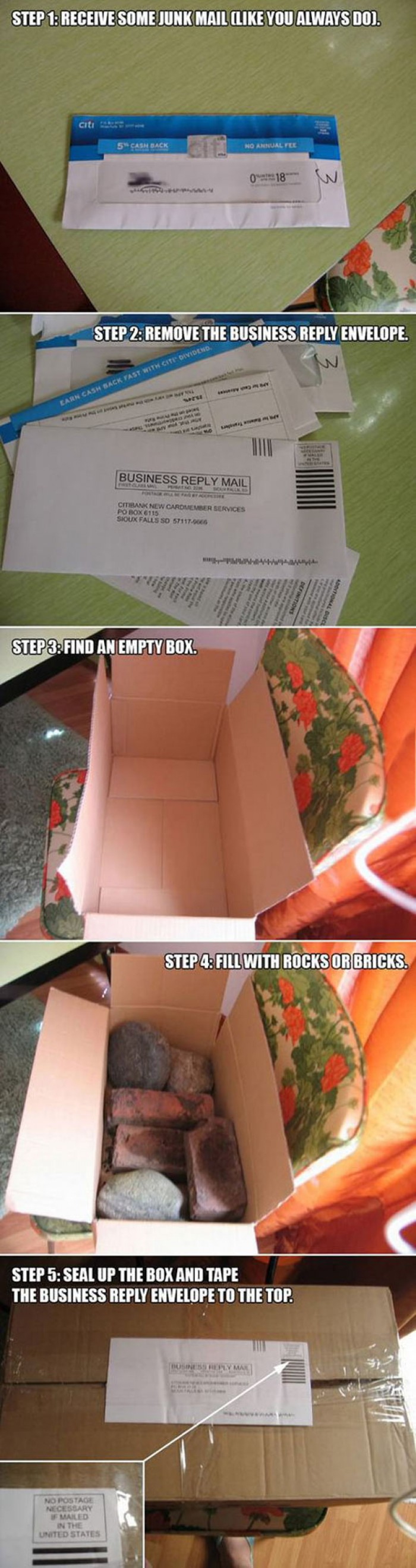 Things To Do With Junk Mail.