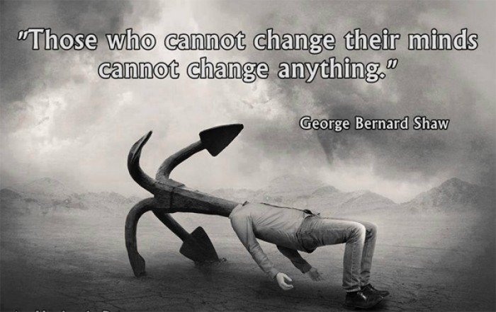 George Bernard Shaw - Those who cannot change their minds cannot...