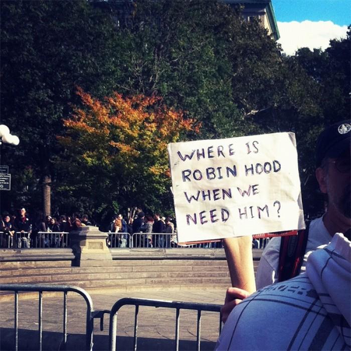 Where is Robin Hood when we need him?