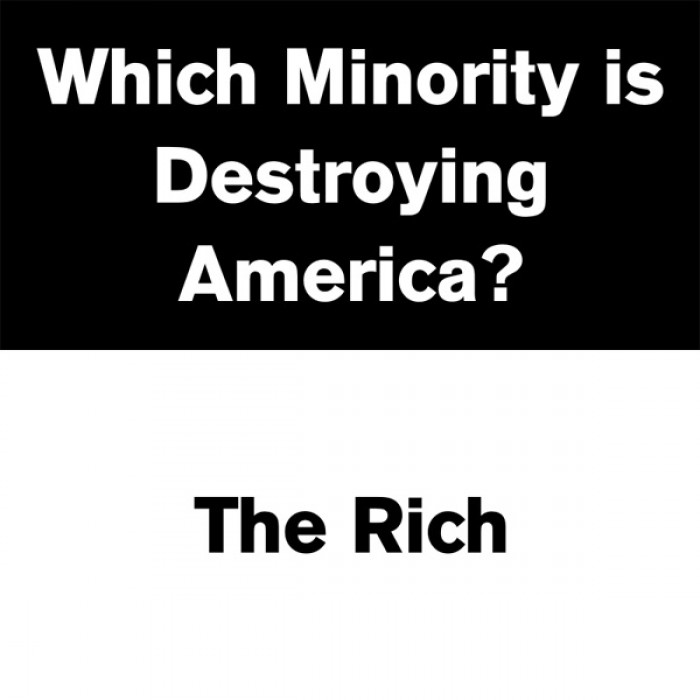 Which minority destroying America?