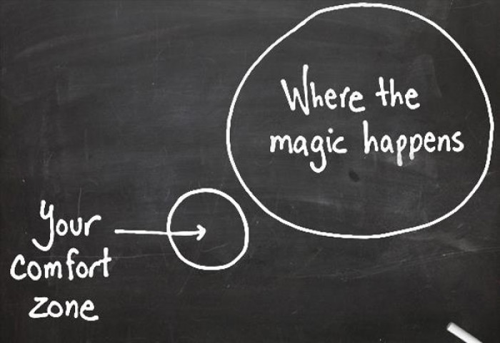Your comfort zone and where the magic happens.