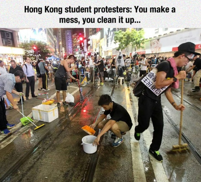 What happens when protest is over in Hong Kong