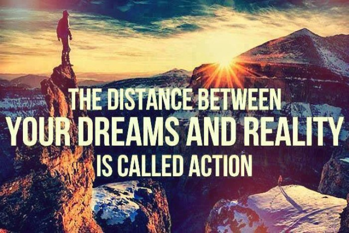 The distance between your dreams and reality...