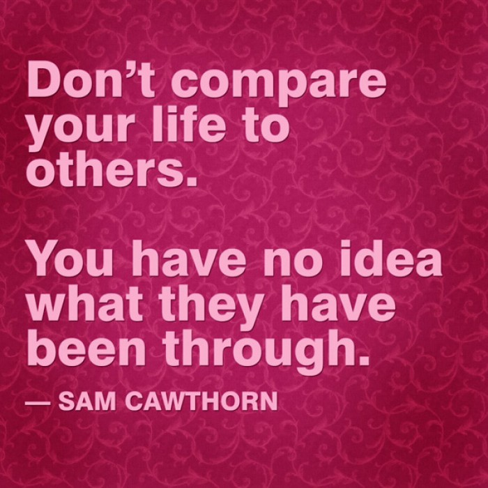 Sam Cawthorn - Don't compare your life to others...