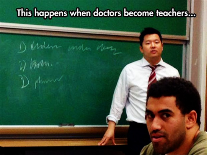 Whwn doctors become teachers